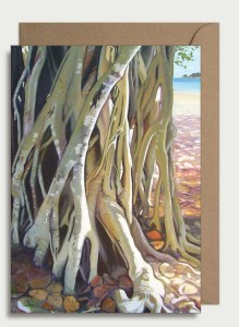 Beach Banyan. A6 card with envelope in protective sleeve. $5.50 AUD