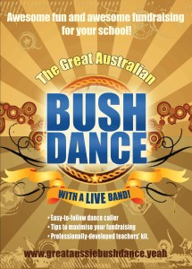 Poster for Bush Dance project for schools.
