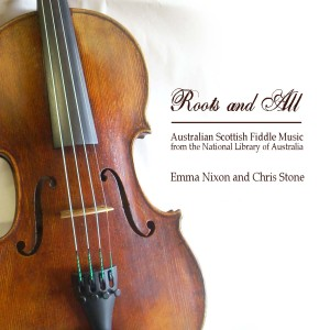 CD cover design for Emma Nixon and Chris Stone, published as part of a National Library of Australia Fellowship.