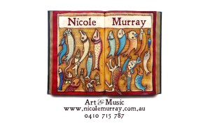 My own art and music business card.